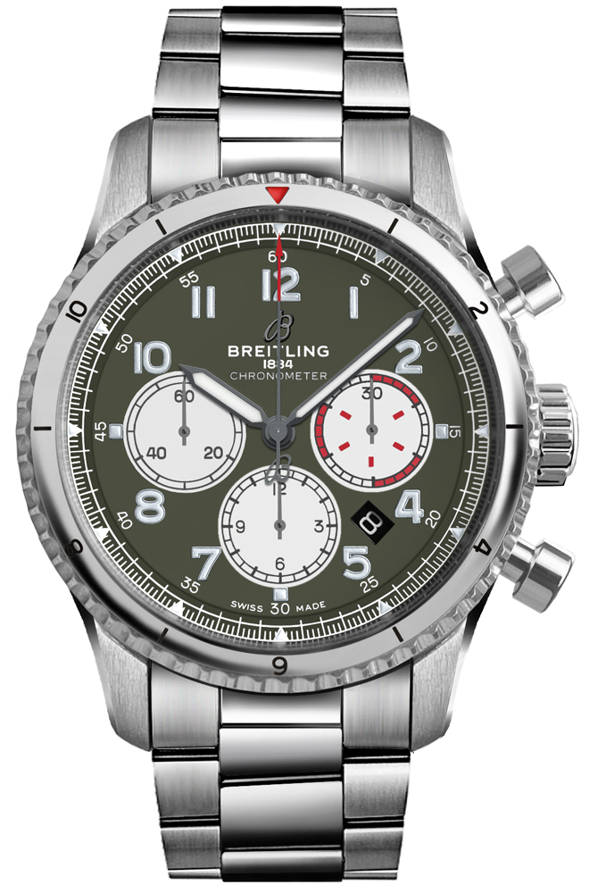 Breitling Aviator 8 Curtiss Warhawk Men's Watch AB01192A1L1A1 Green USA - GOOFASH - Mens WATCHES