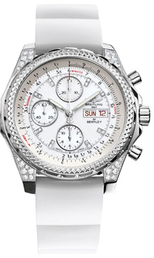 Breitling Bentley GT Ice Men's Watch A1336267/A729-215S White USA - GOOFASH - Mens WATCHES