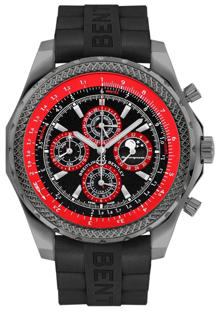 Breitling Bentley Supersports Titanium Men's Watch E2936429/BA63-244S Black USA - GOOFASH - Mens WATCHES