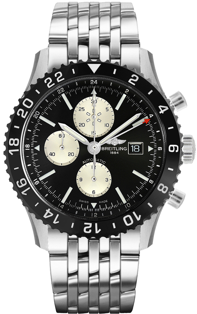 Breitling Chronoliner Y2431012/BE10-453A Black USA - GOOFASH - Mens JEWELRY