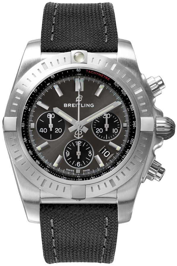 Breitling Chronomat B01 Chronograph 44 Men's Watch AB011510/F581-109W Grey USA - GOOFASH - Mens WATCHES