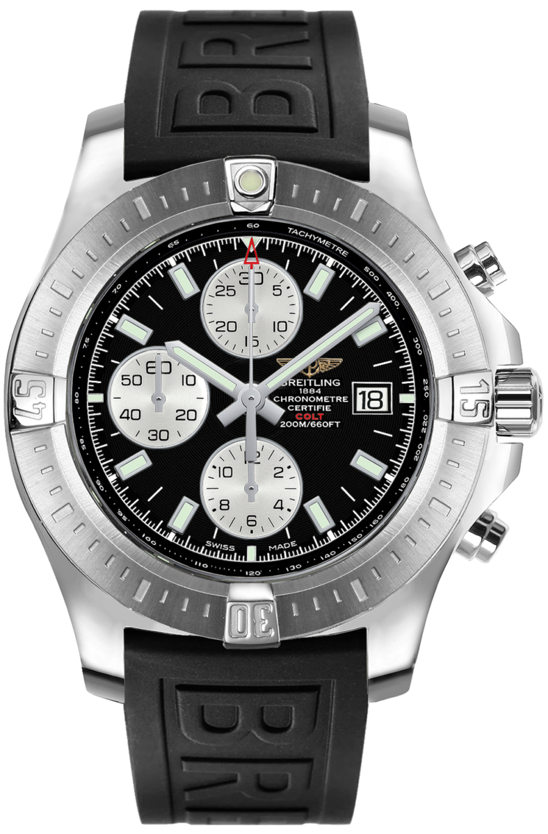 Breitling Colt Chronograph Automatic Men's Sport Watch A1338811/BD83-153S Black USA - GOOFASH - Mens WATCHES