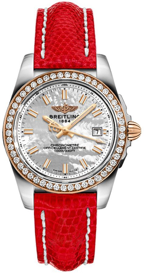 Breitling Galactic 32 Sleek Women's Watch C7133053/A802-124Z White Mother Of Pearl USA - GOOFASH - Womens WATCHES