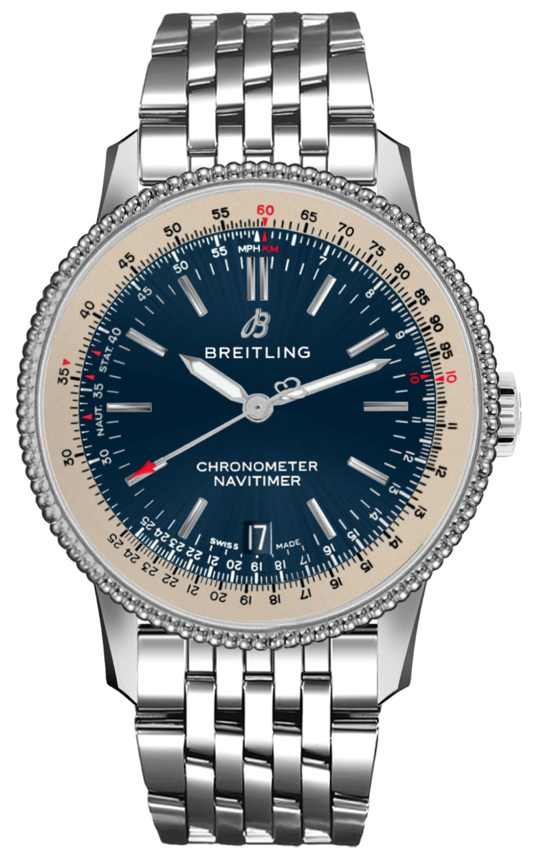 Breitling Navitimer 1 Automatic 38 A17325211C1A1 Blue USA - GOOFASH - Mens JEWELRY