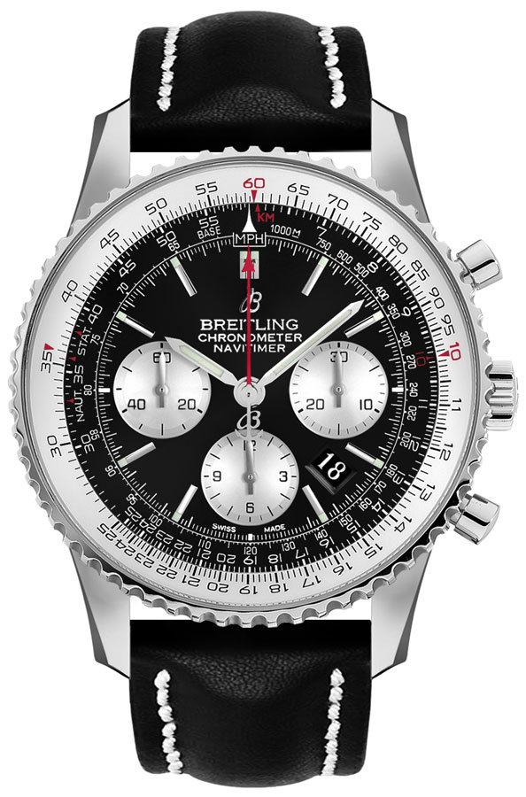 Breitling Navitimer 1 Chronograph Automatic Men's Watch AB0127211B1X2 Black USA - GOOFASH - Mens WATCHES