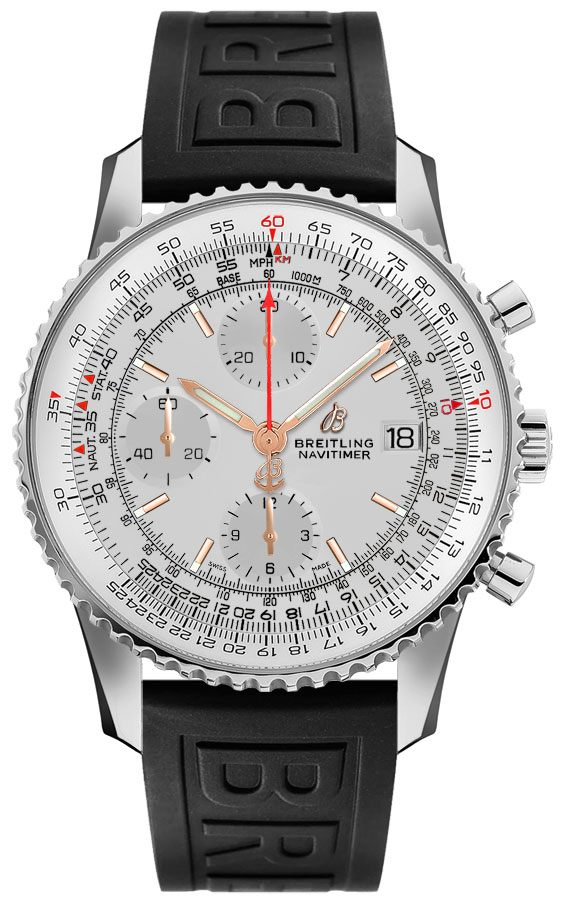 Breitling Navitimer 1 Silver Dial Men's Watch A1332412/G834-153S Silver USA - GOOFASH - Mens WATCHES