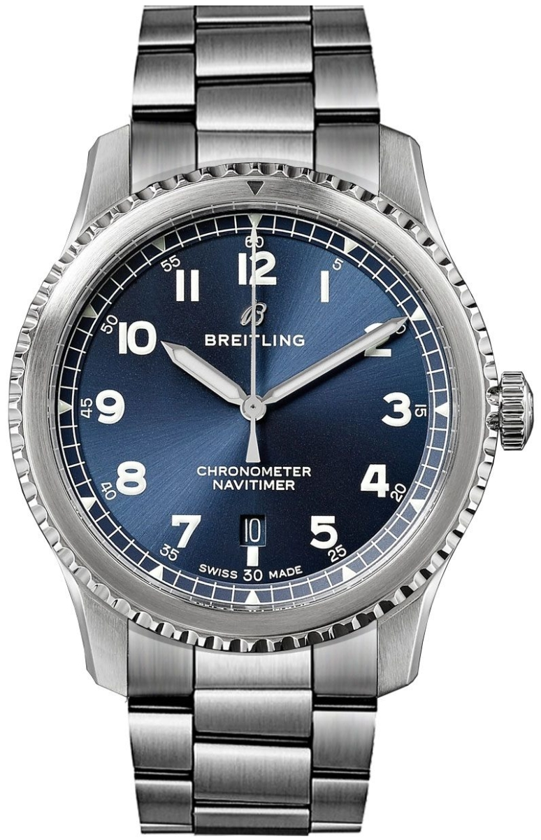 Breitling Navitimer 8 Automatic Blue Dial Men's Watch 41 A17314101C1A1 Blue USA - GOOFASH - Mens WATCHES