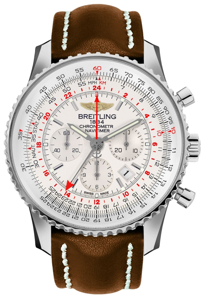 Breitling Navitimer GMT Chronograph Men's Watch AB0441211G1X1 Silver USA - GOOFASH - Mens WATCHES