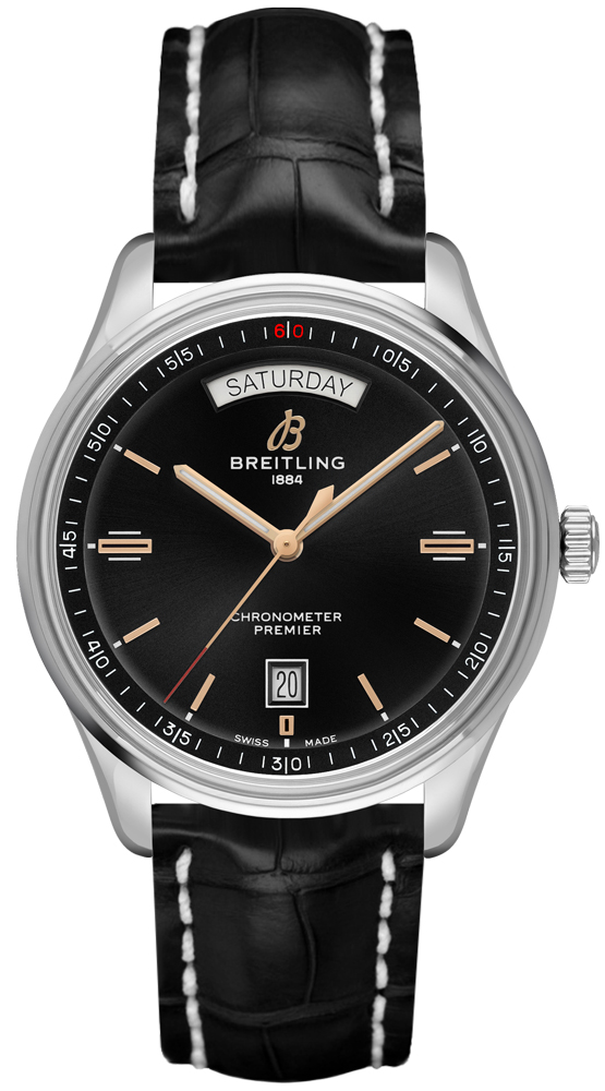 Breitling Premier Automatic Day & Date 40 A45340241B1P2 Black USA - GOOFASH - Mens JEWELRY