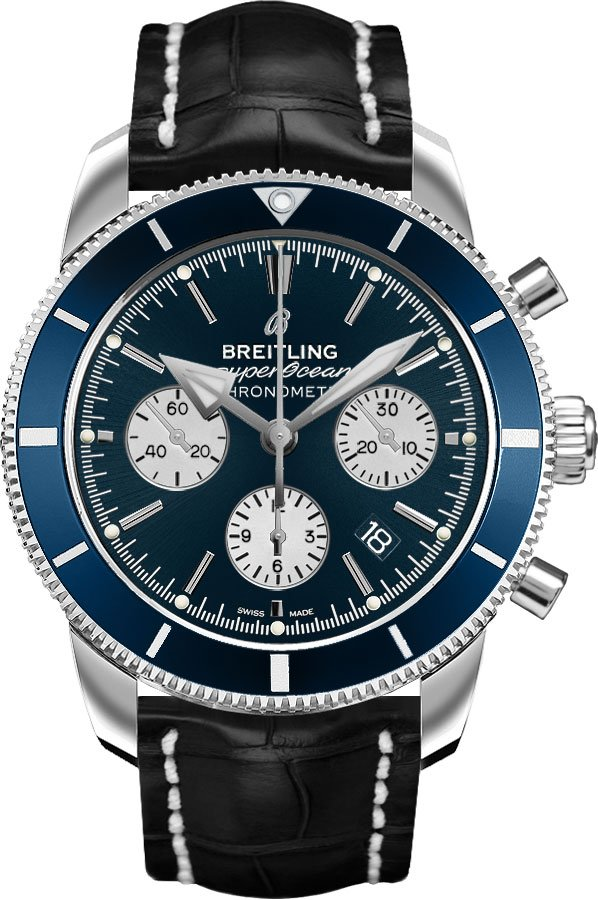 Breitling Superocean Chronograph Date Men's Watch AB016216/CA07-743P Blue USA - GOOFASH - Mens WATCHES