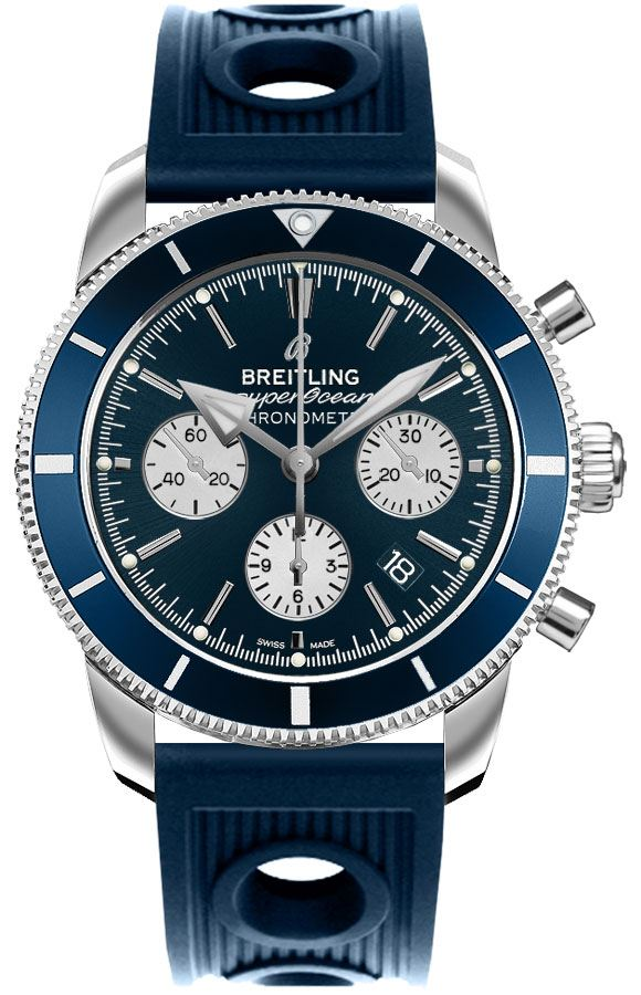 Breitling Superocean Heritage Blue Dial Men's Watch AB016216/CA07-211S Blue USA - GOOFASH - Mens WATCHES