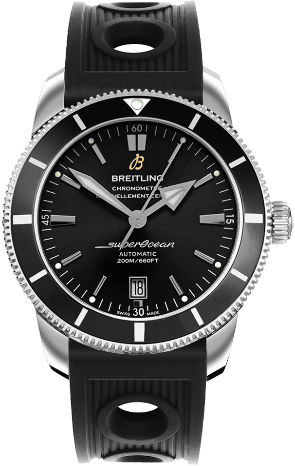 Breitling Superocean Heritage II 46 Black Dial Men's Watch AB202012/BF74-201S Black USA - GOOFASH - Mens WATCHES