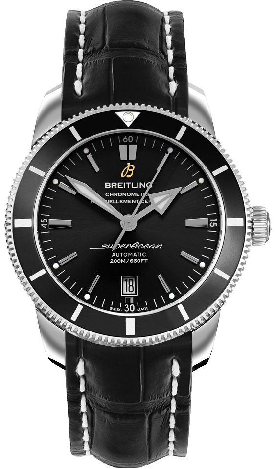 Breitling Superocean Heritage II B20 Automatic 42 Men's Watch AB201012/BF73-743P Black USA - GOOFASH - Mens WATCHES