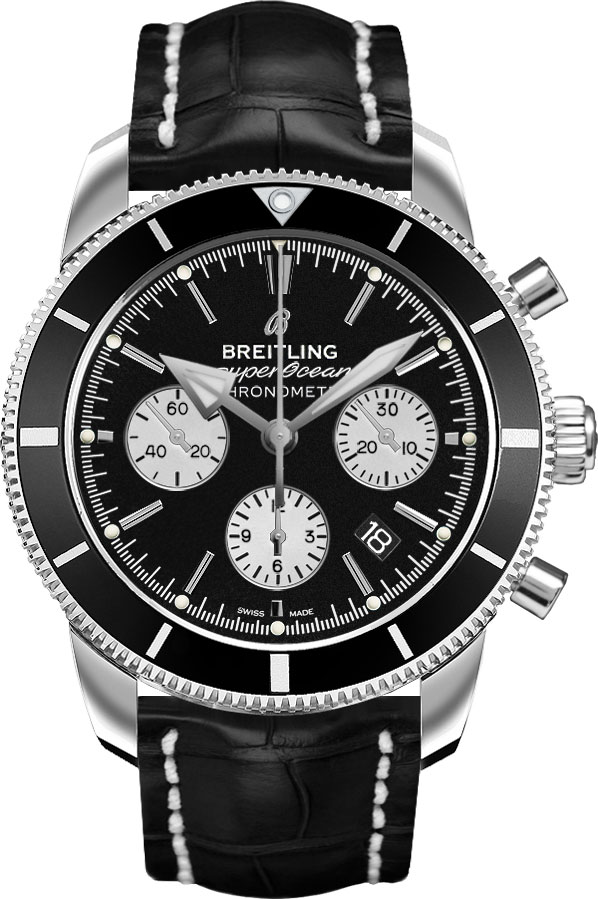 Breitling Superocean Heritage II Steel Men's Watch AB016212/BG82-743P Black USA - GOOFASH - Mens WATCHES