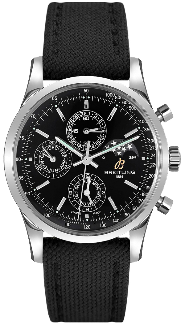 Breitling Transocean Chronograph 1461 Black Dial Men's Watch A1931012/BB68-103W Black USA - GOOFASH - Mens WATCHES