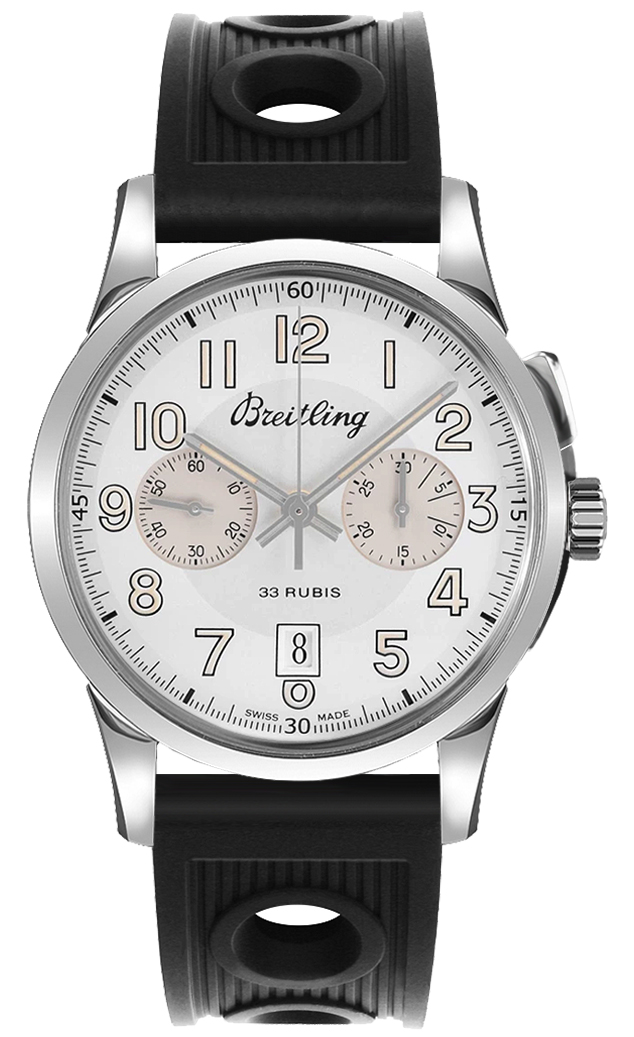 Breitling Transocean Chronograph 1915 AB141112/G799-200S Silver USA - GOOFASH - Mens JEWELRY