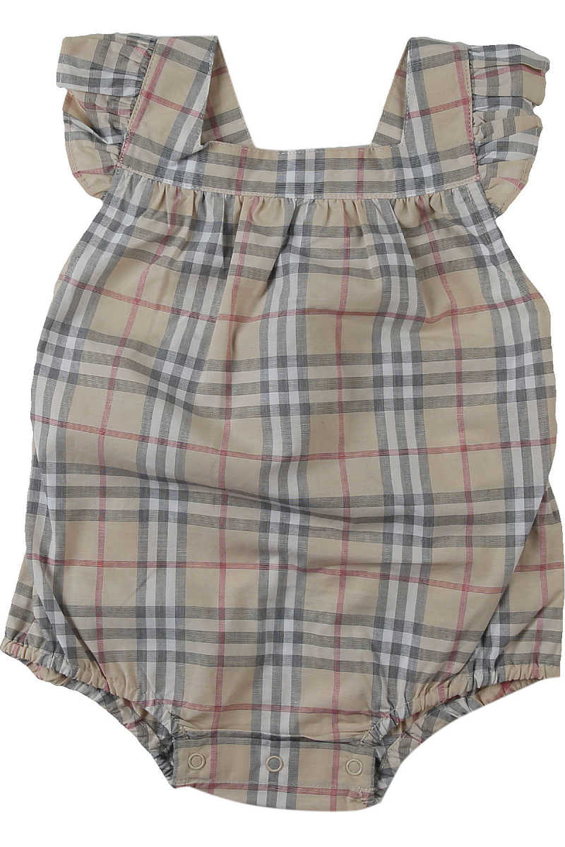 Burberry Baby Bodysuits & Onesies for Girls On Sale Beige DK - GOOFASH - Womens JUMPSUITS