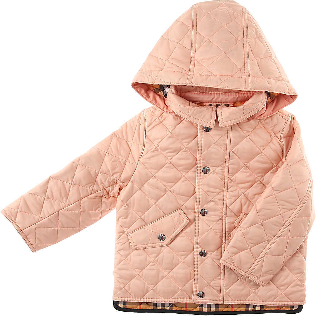 Burberry Baby Jacket for Girls Pink DK - GOOFASH - Womens JACKETS