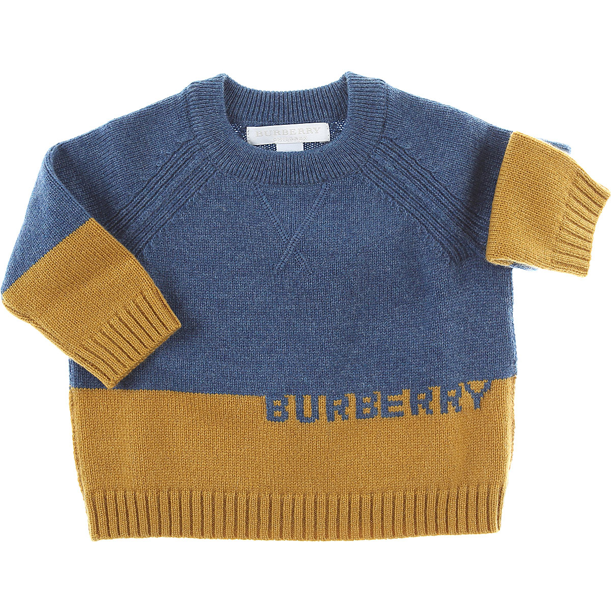 Burberry Baby Sweaters for Boys On Sale Blue DK - GOOFASH - Mens SWEATERS