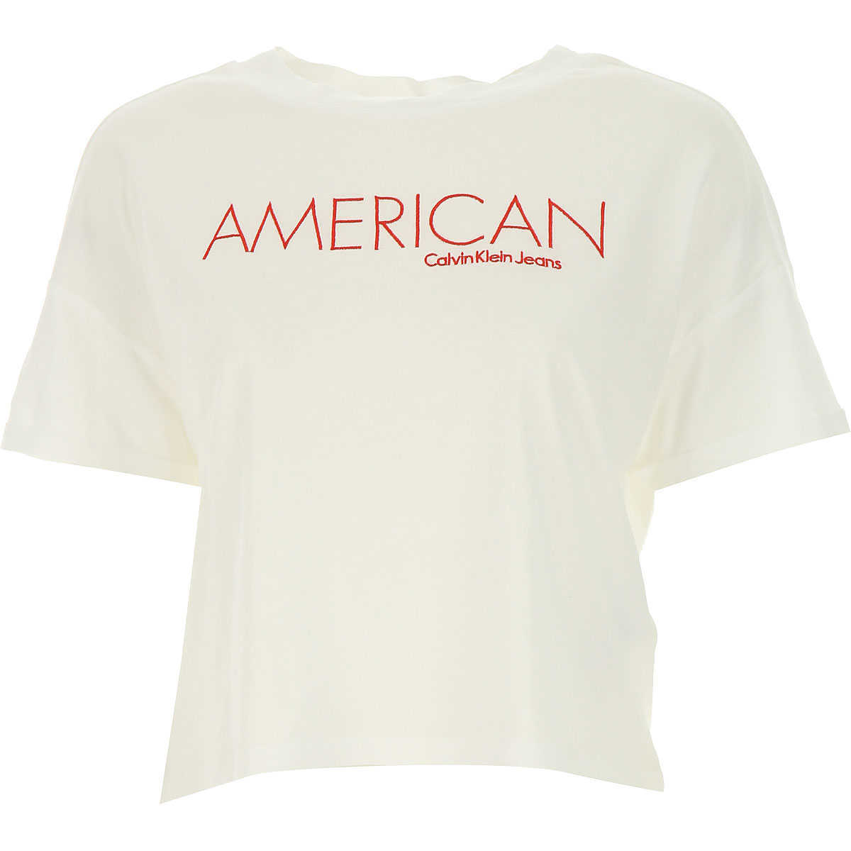 Calvin Klein T-Shirt for Women On Sale in Outlet White DK - GOOFASH - Womens T-SHIRTS