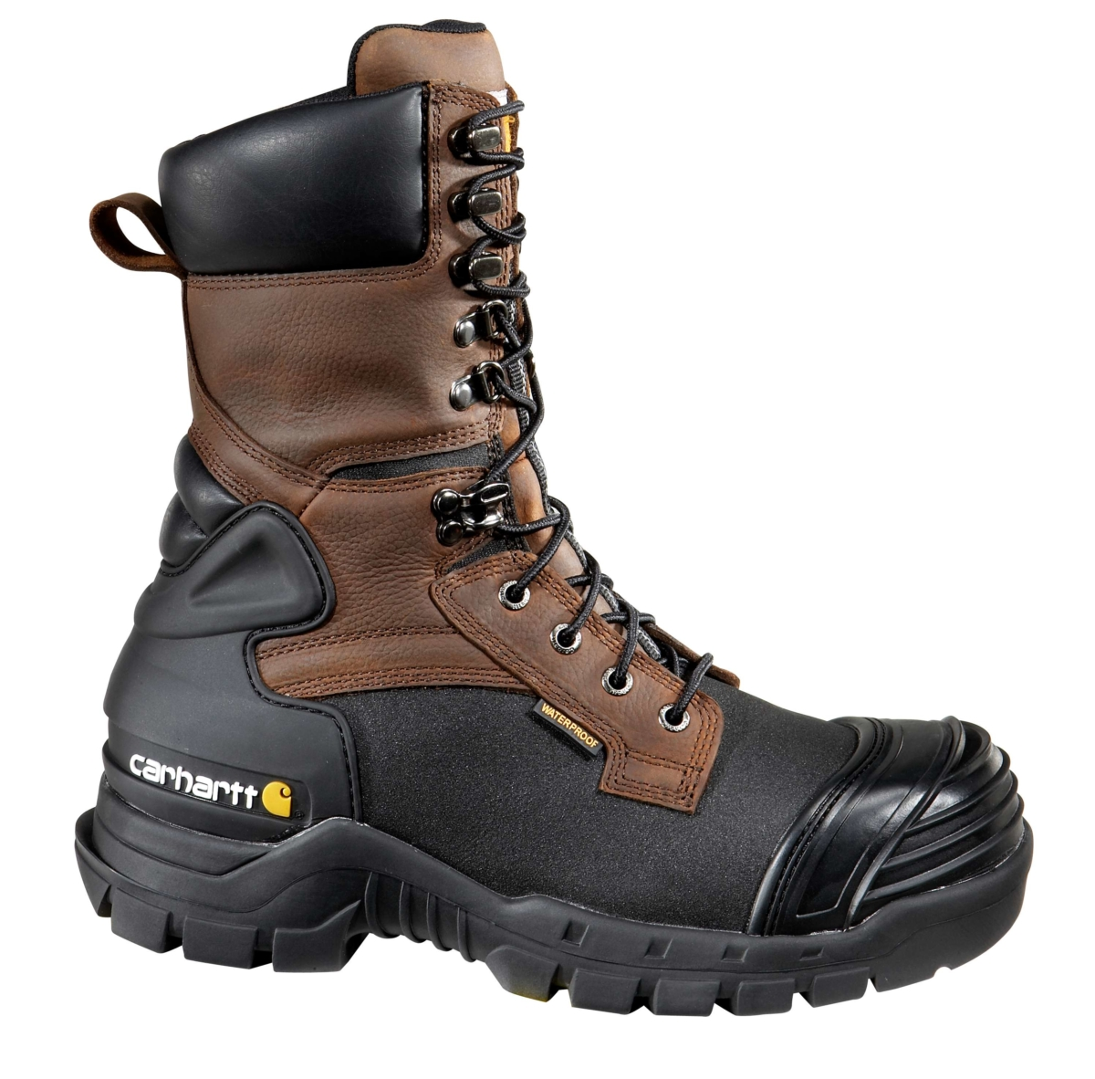 Carhartt 10-Inch Insulated Composite Toe Pac Boot Brown Oil Tanned