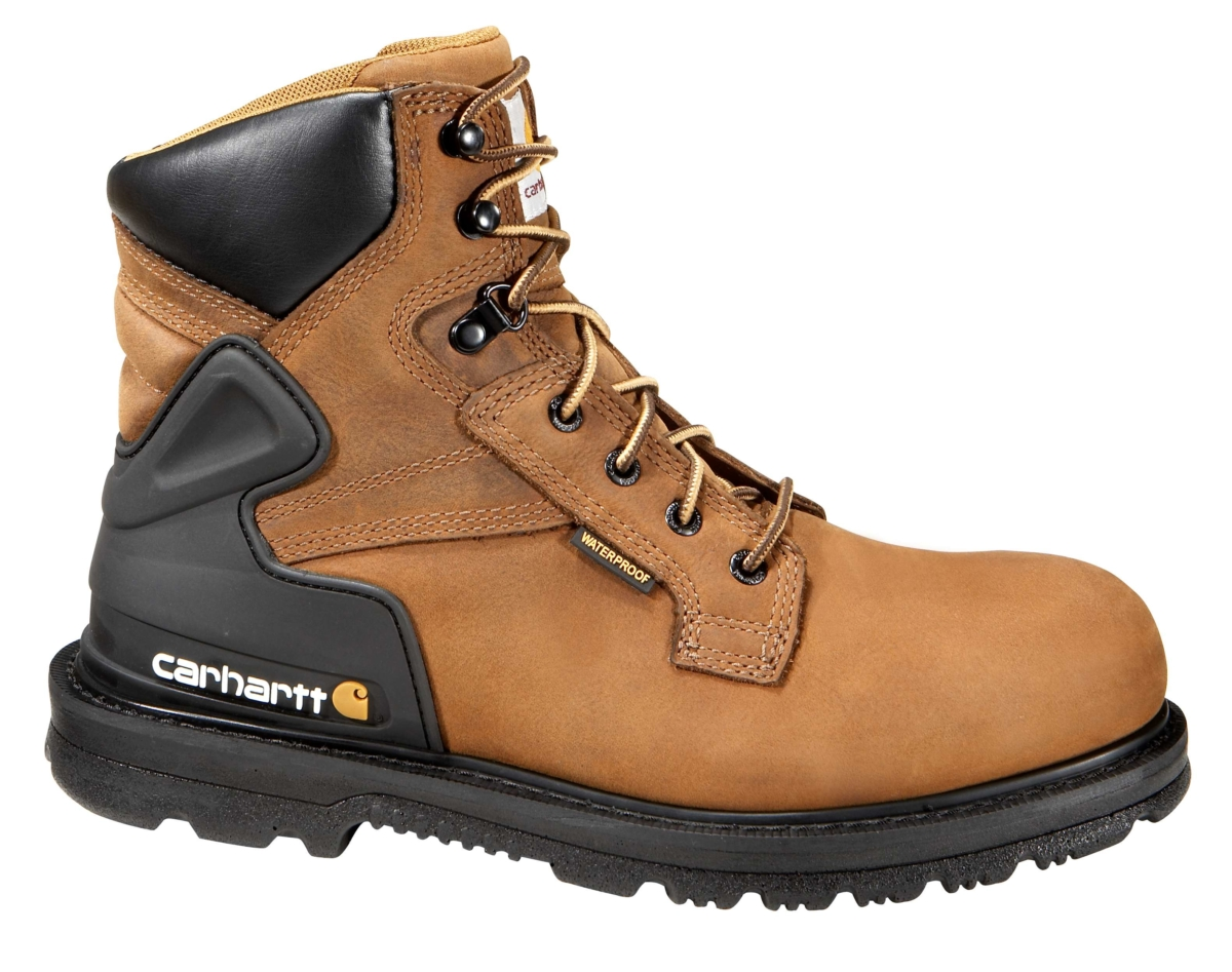 Carhartt 6-Inch Non-Safety Toe Work Boot Bison Brown Oil Tan USA - GOOFASH - Mens BOOTS
