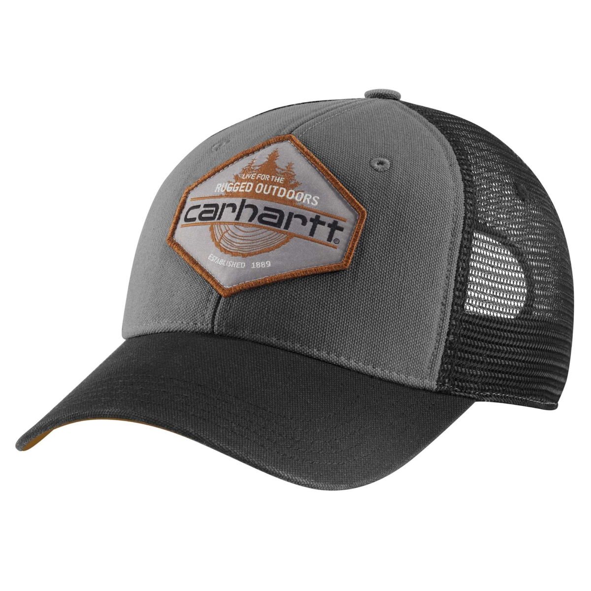 Carhartt Bear Lake Cap Gravel USA - GOOFASH - Mens CAPS