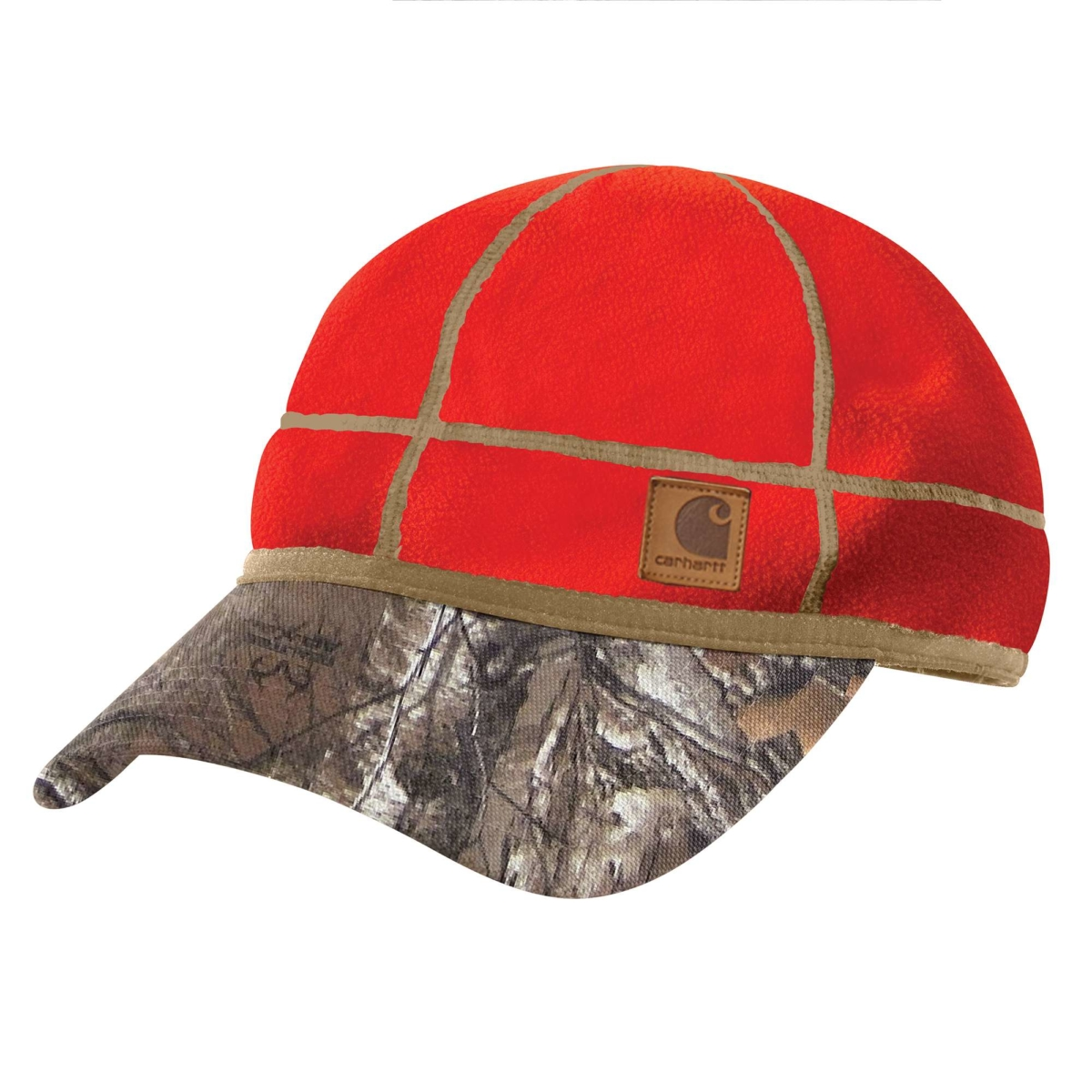 Carhartt Carhartt Force Griggs Fleece Visor Cap Orange USA - GOOFASH - Mens CAPS