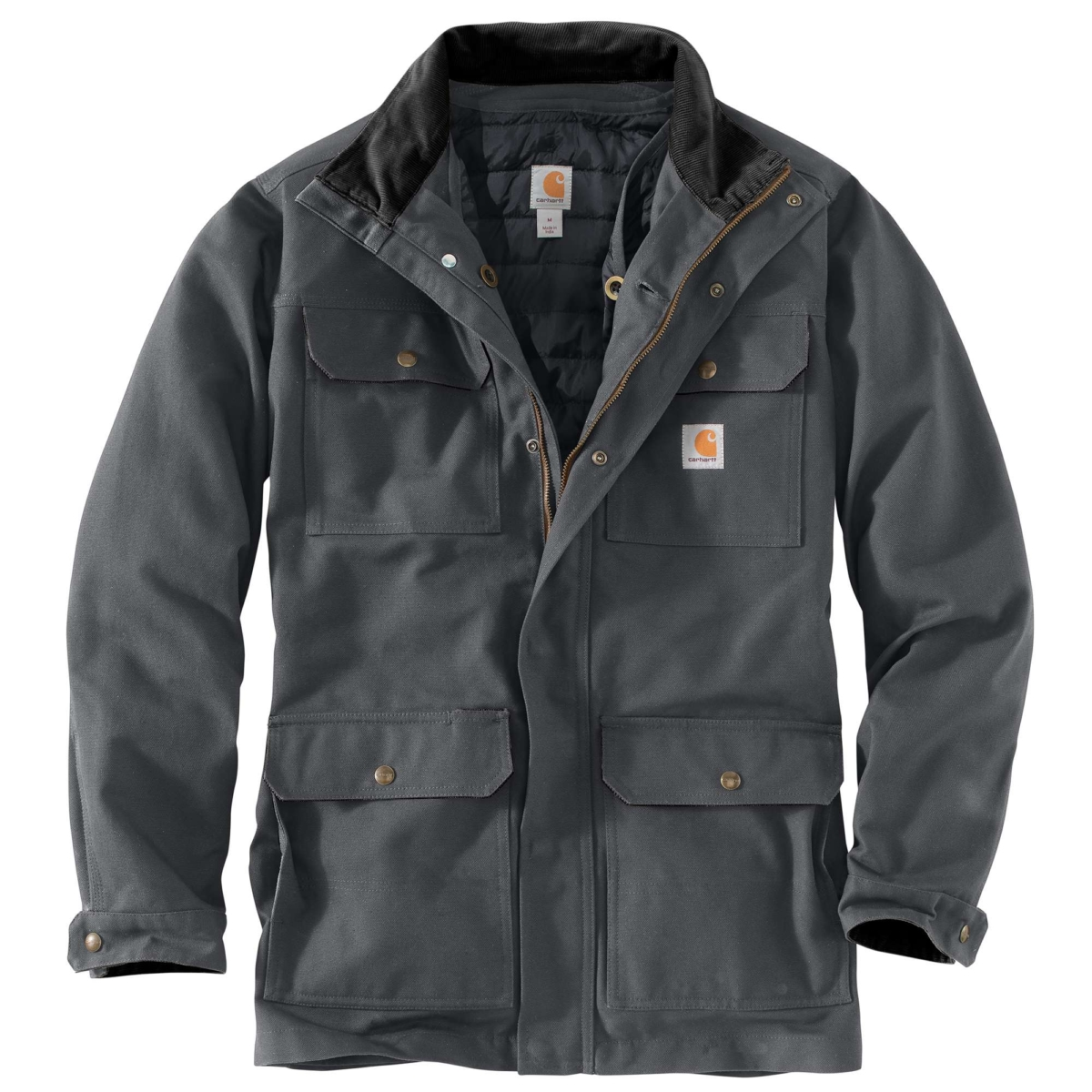 Carhartt Field Coat Shadow USA - GOOFASH - Mens COATS
