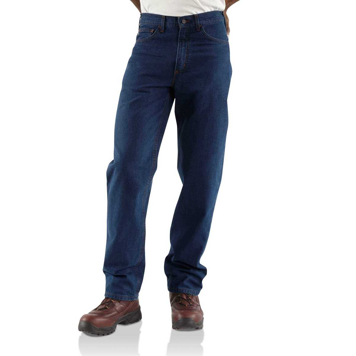 Carhartt Flame-Resistant Relaxed Fit Jean/Straight Leg Denim USA - GOOFASH - Mens JEANS