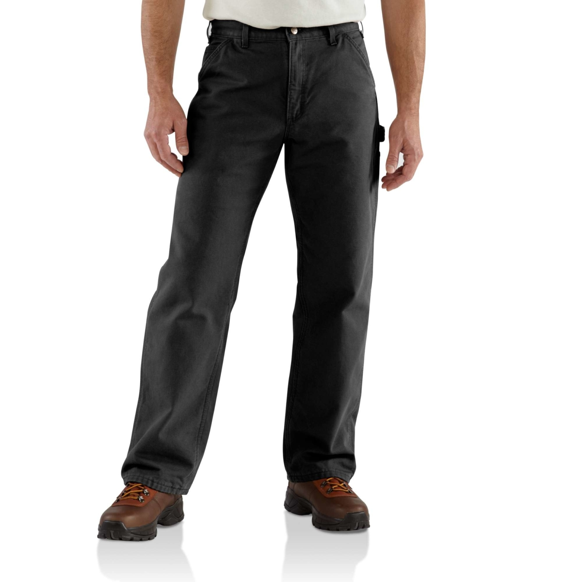 Carhartt Flannel Lined Washed Duck Dungaree   Men   Carhartt Black USA - GOOFASH - Mens TROUSERS