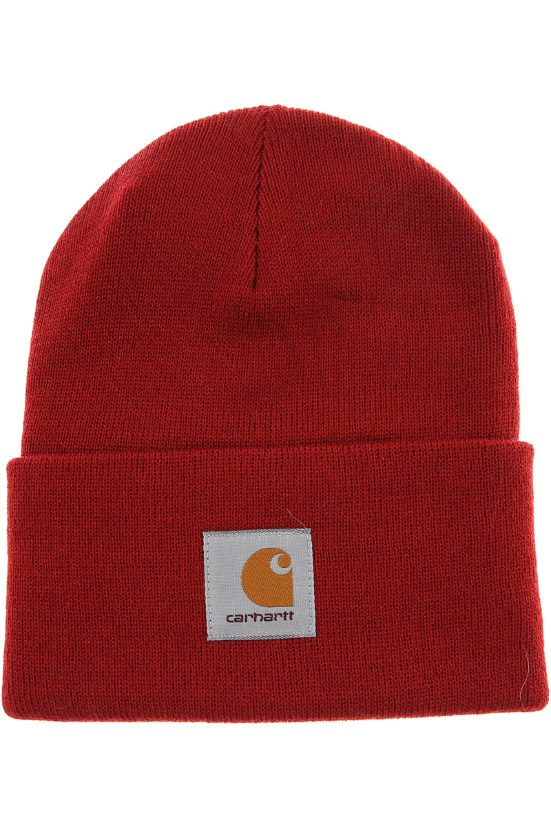 Carhartt Hat for Women On Sale in Outlet Bright Red DK - GOOFASH - Mens HATS