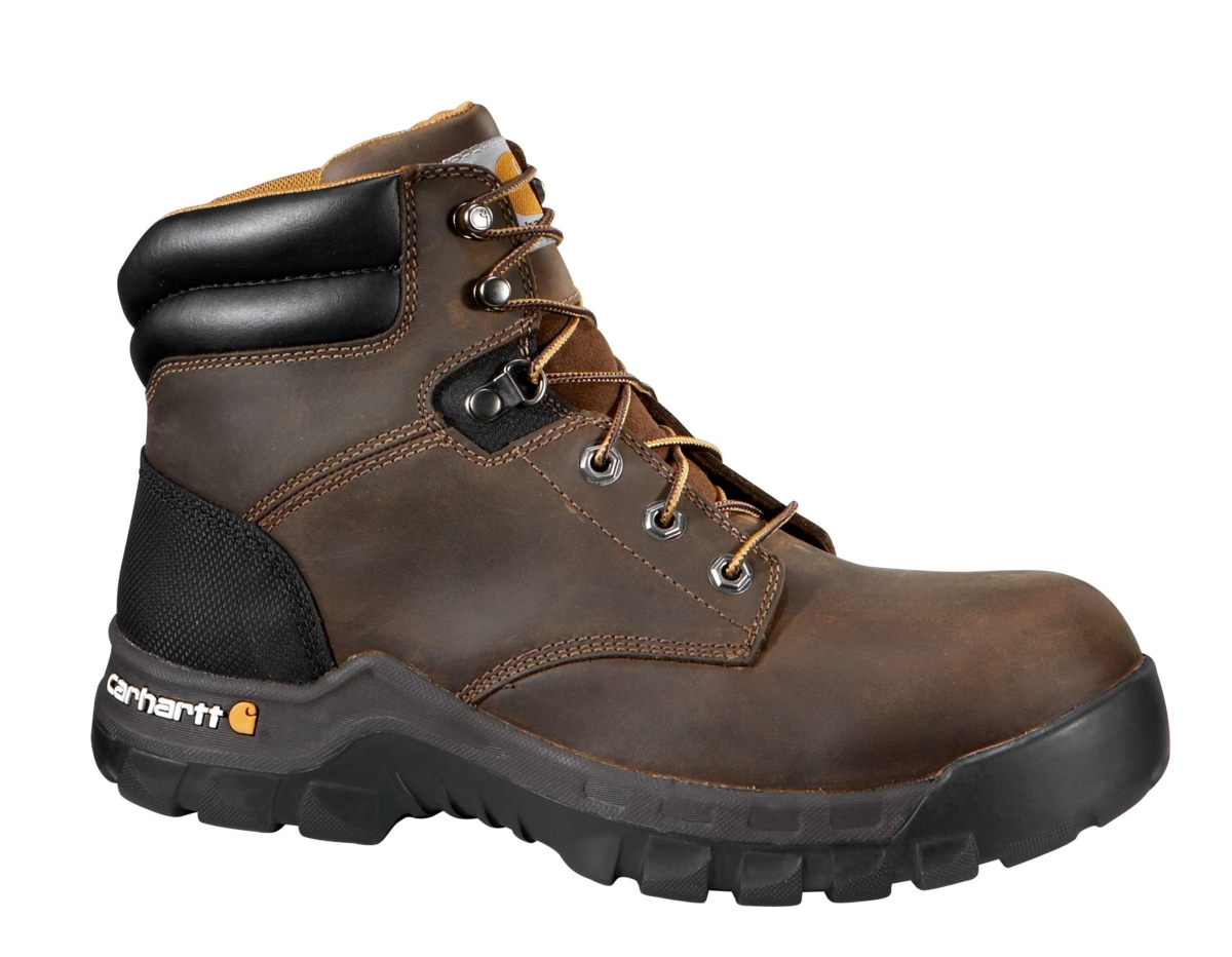 Carhartt RUGGED FLEX 6 INCH NON-SAFETY TOE WORK BOOT Brown Oil Tanned USA - GOOFASH - Mens BOOTS