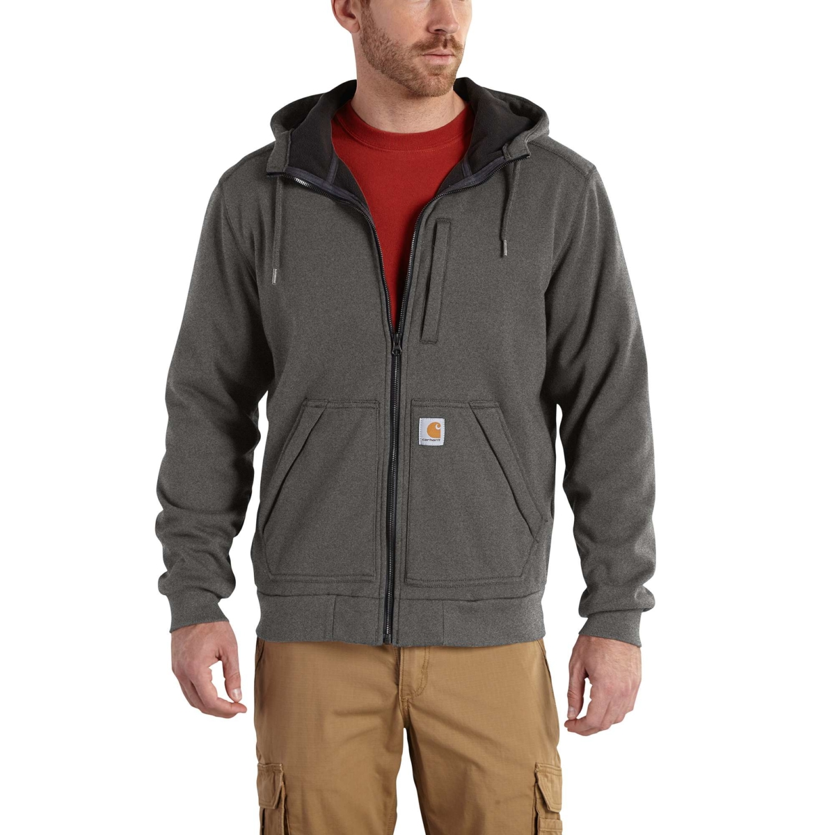 Carhartt Wind Fighter™ Sweatshirt Carbon Heather USA - GOOFASH - Mens SWEATERS