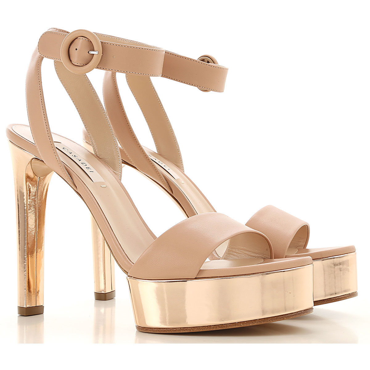 Casadei Sandals for Women On Sale Blush Nude DK - GOOFASH - Womens SANDALS