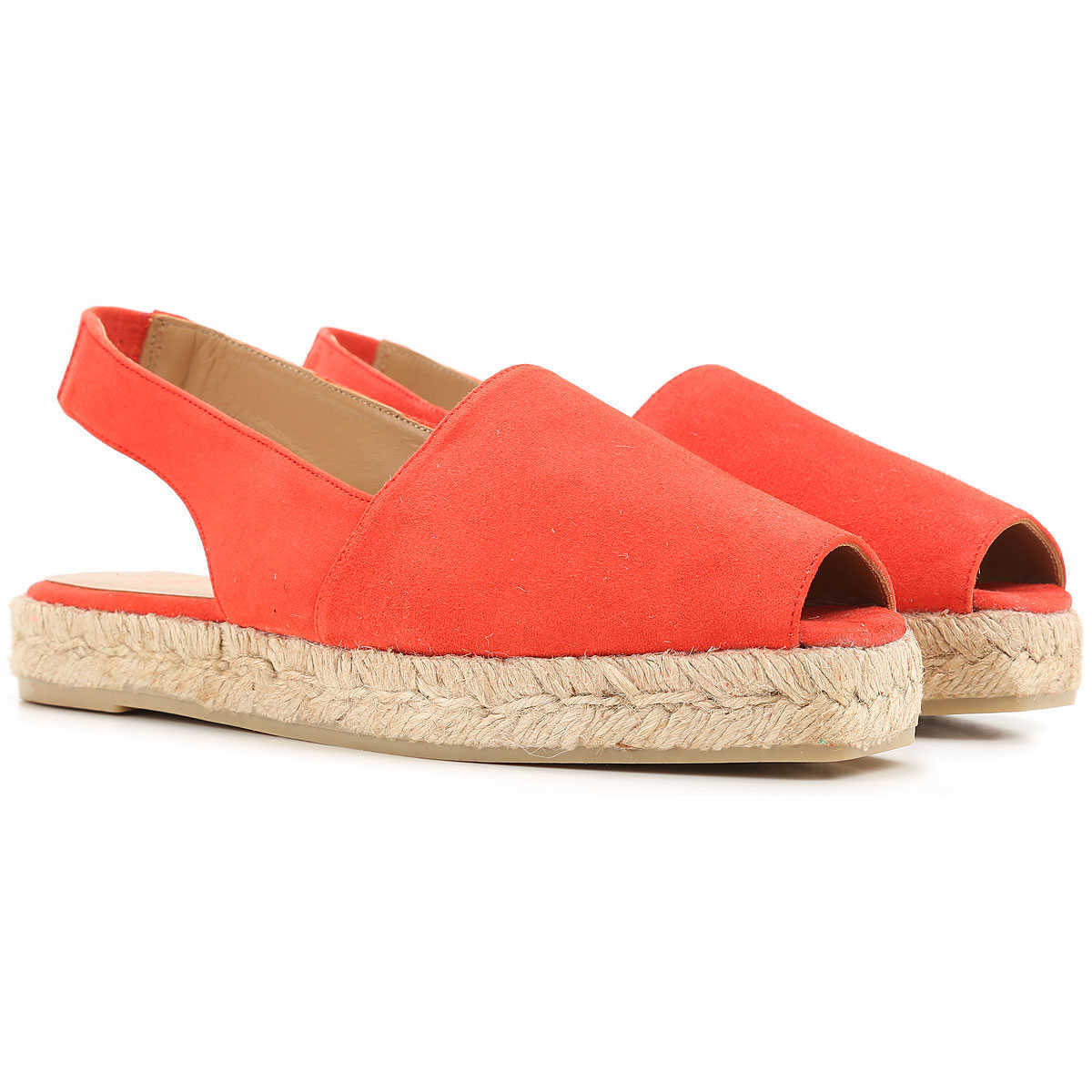 Castaner Wedges for Women On Sale in Outlet Red DK - GOOFASH - Womens HOUSE SHOES