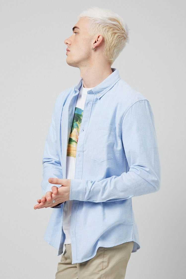 Chambray Classic Fit Shirt at Forever 21