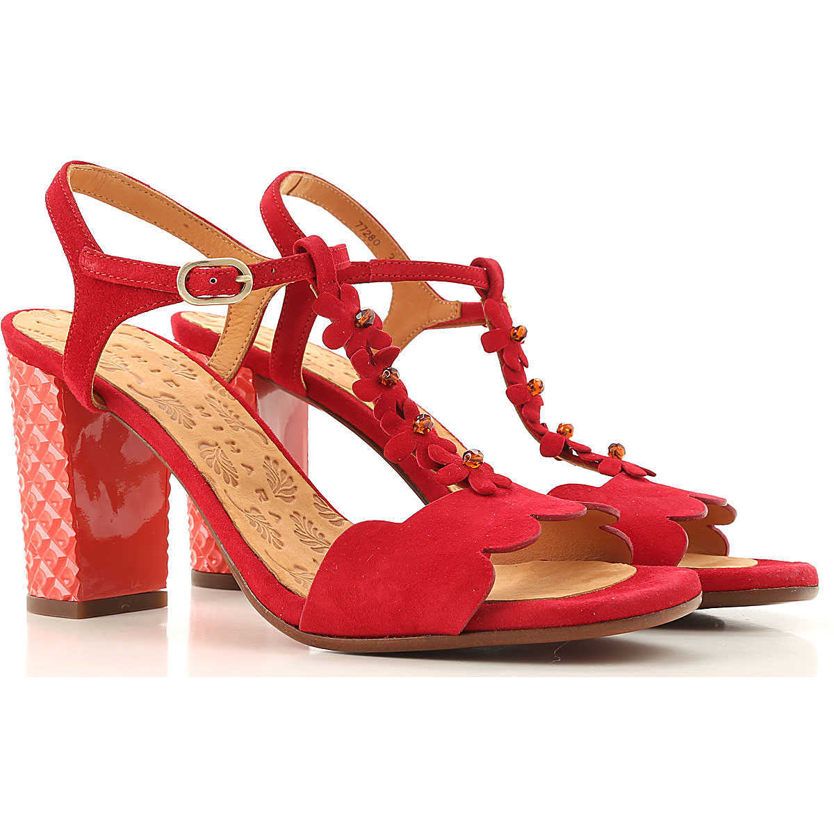 Chie Mihara Sandals for Women On Sale Red DK - GOOFASH - Womens SANDALS
