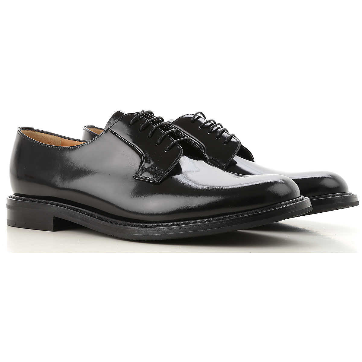 Church's Oxford Lace up Shoes for Women On Sale Black DK - GOOFASH - Womens LEATHER SHOES