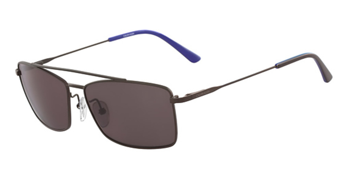 Ck Calvin Klein CK 18117S Sunglasses (201) MATTE DARK BROWN USA - GOOFASH - Mens SUNGLASSES