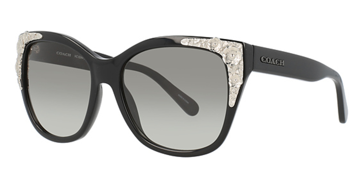 Coach HC 8244 Sunglasses Black Solid USA - GOOFASH - Womens SUNGLASSES