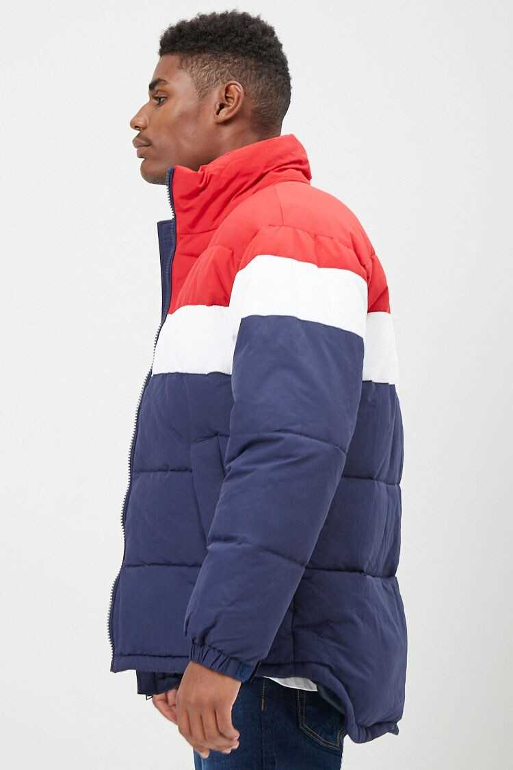 Colorblock Puffer Jacket at Forever 21