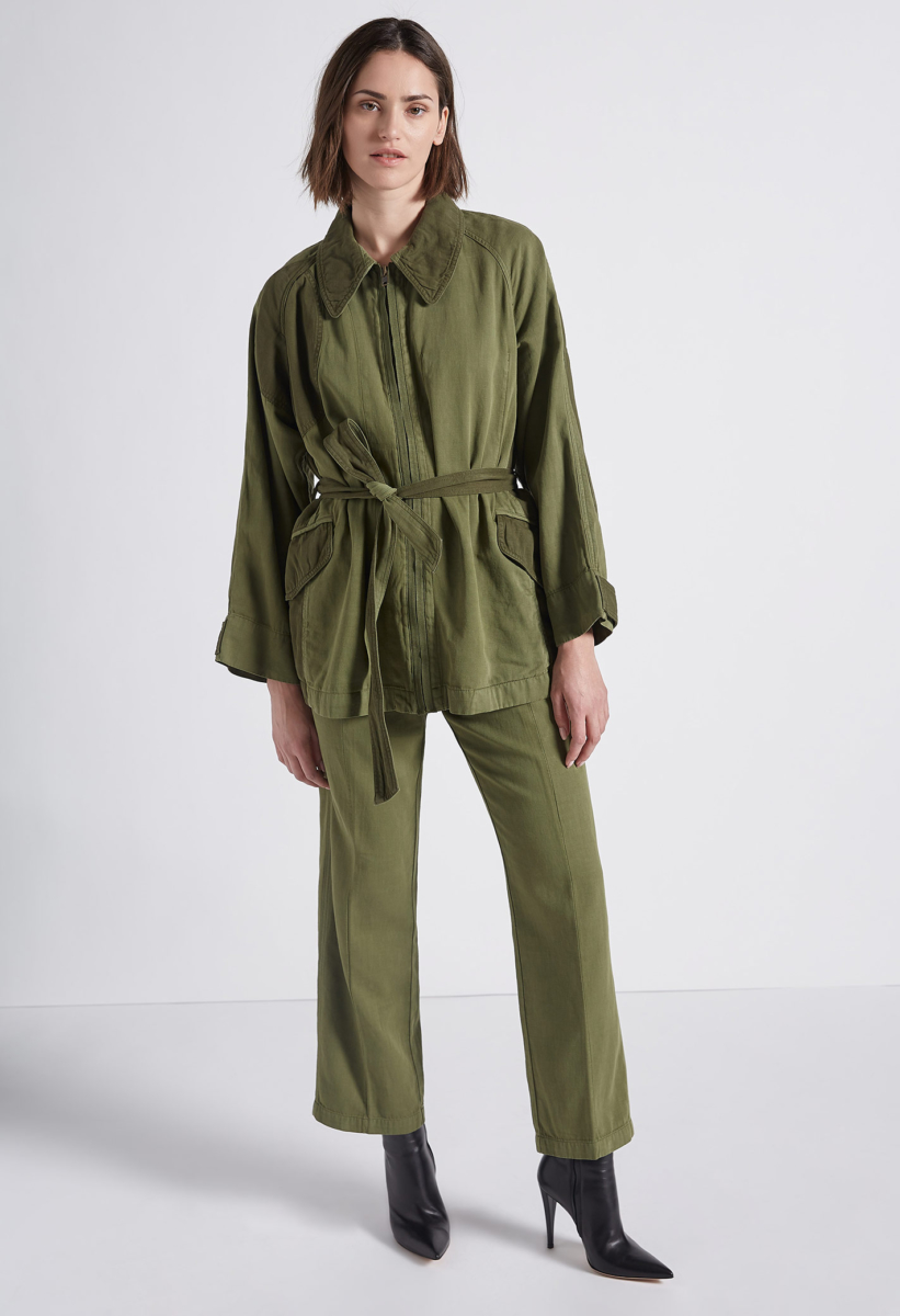 Current Elliott The Relaxed Military Jacket Army Green USA - GOOFASH - Womens JACKETS