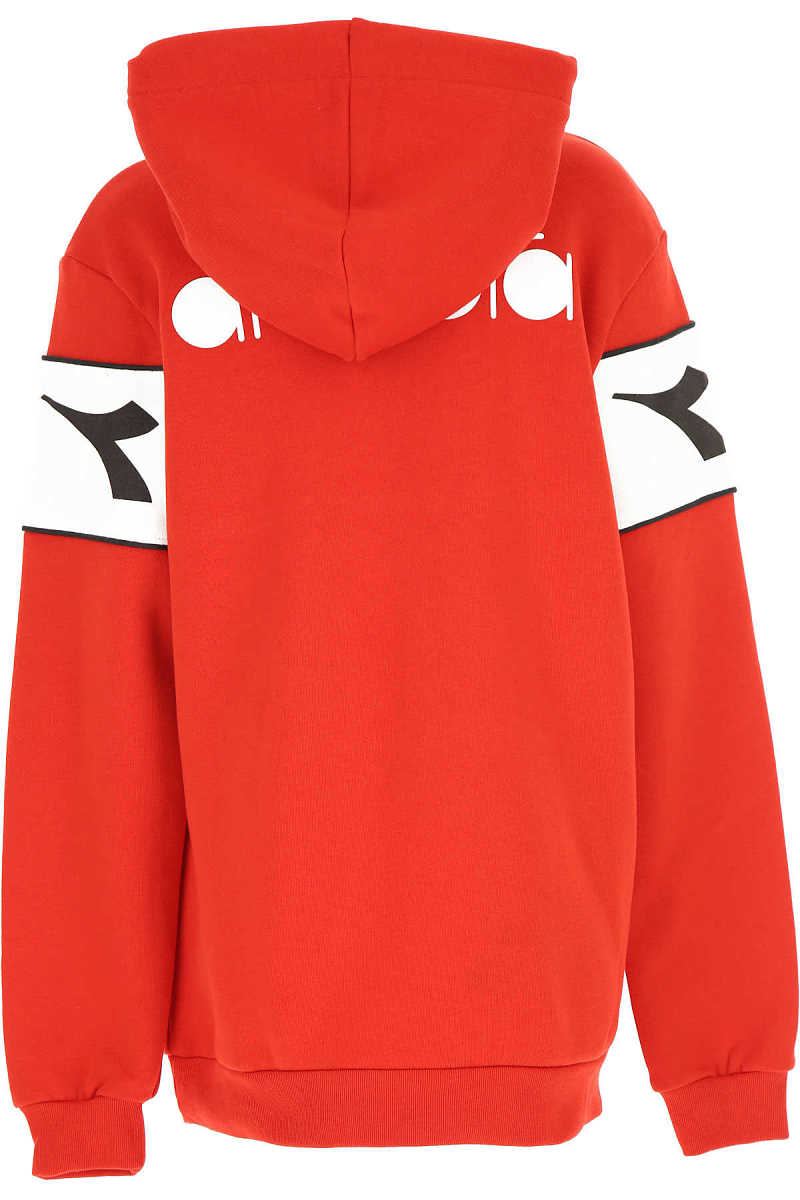 Diadora Kids Sweatshirts & Hoodies for Boys Red DK - GOOFASH - Mens SWEATERS