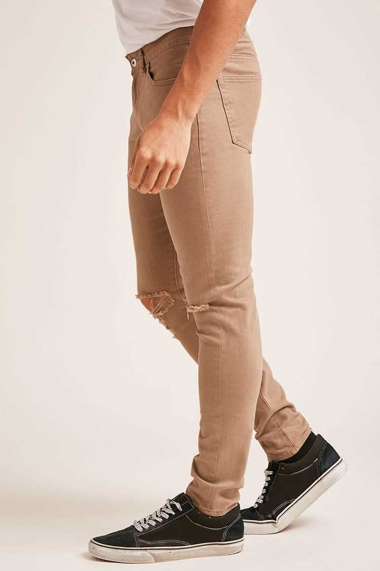 Distressed Knee Skinny Jeans at Forever 21
