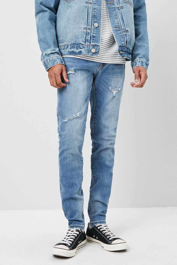 Distressed Slim-Fit Jeans at Forever 21