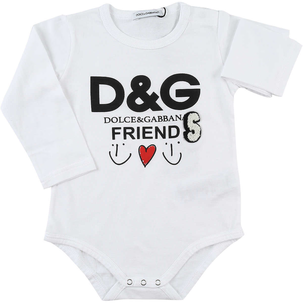 Dolce & Gabbana Baby Bodysuits & Onesies for Girls On Sale in Outlet White DK - GOOFASH - Womens JUMPSUITS