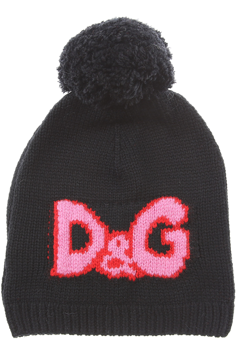Dolce & Gabbana Kids Hats for Girls On Sale in Outlet Black DK - GOOFASH - Womens HATS