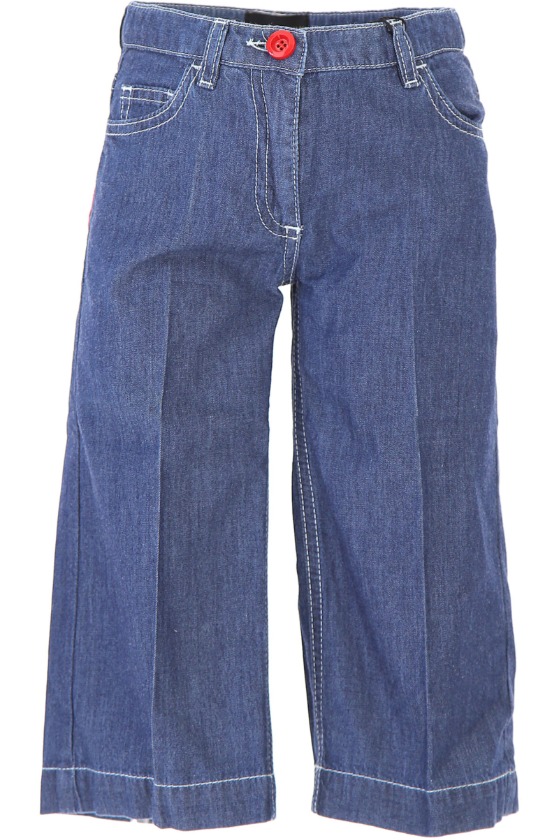 Dolce & Gabbana Kids Pants for Girls On Sale in Outlet Denim DK - GOOFASH - Womens TROUSERS