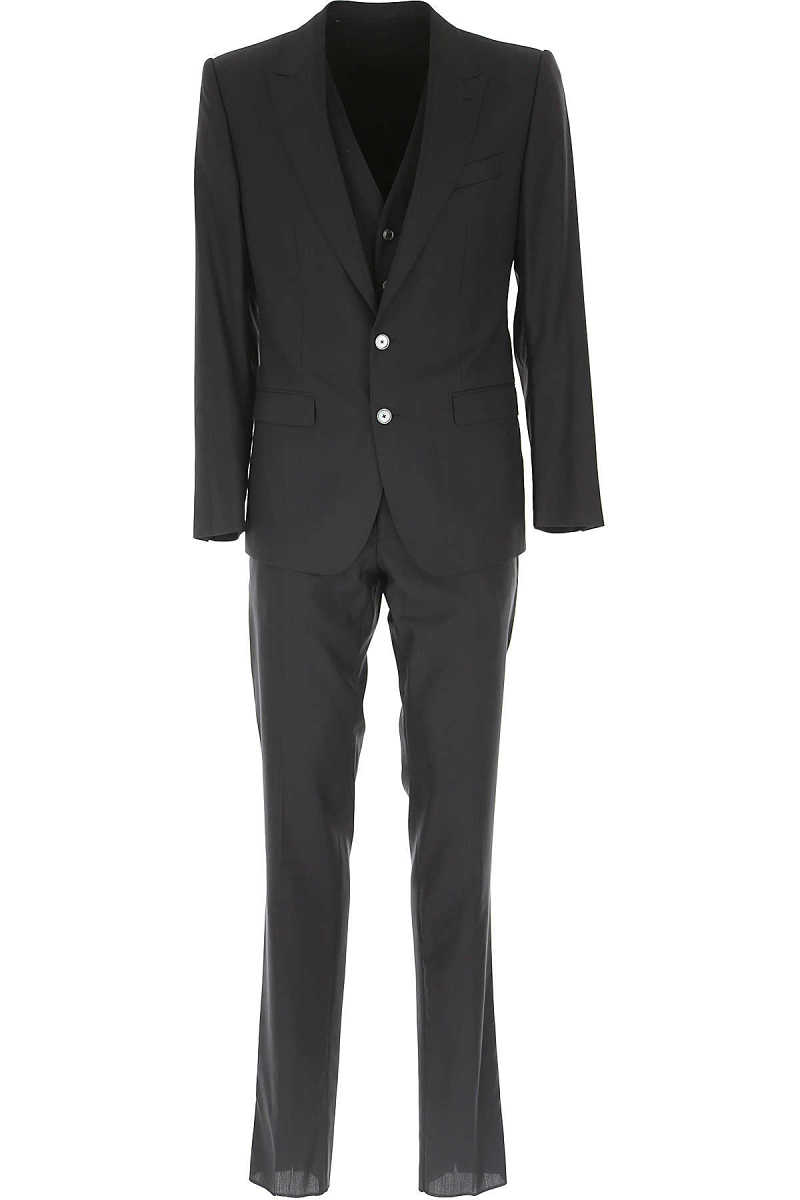 Dolce & Gabbana Men's Suit On Sale in Outlet Black DK - GOOFASH - Mens SUITS